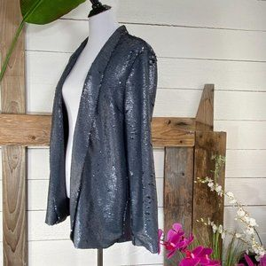Cupcake & Cashmere Jackets & Coats - Cupcakes & Cashmere Sequin Jacket Silver NWT